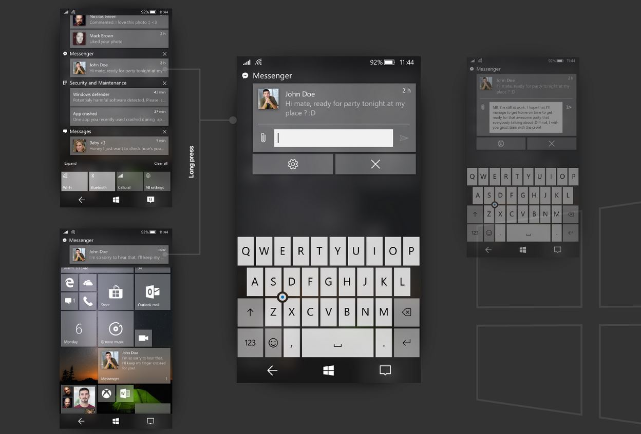 Windows 10 Mobile Fluent Design