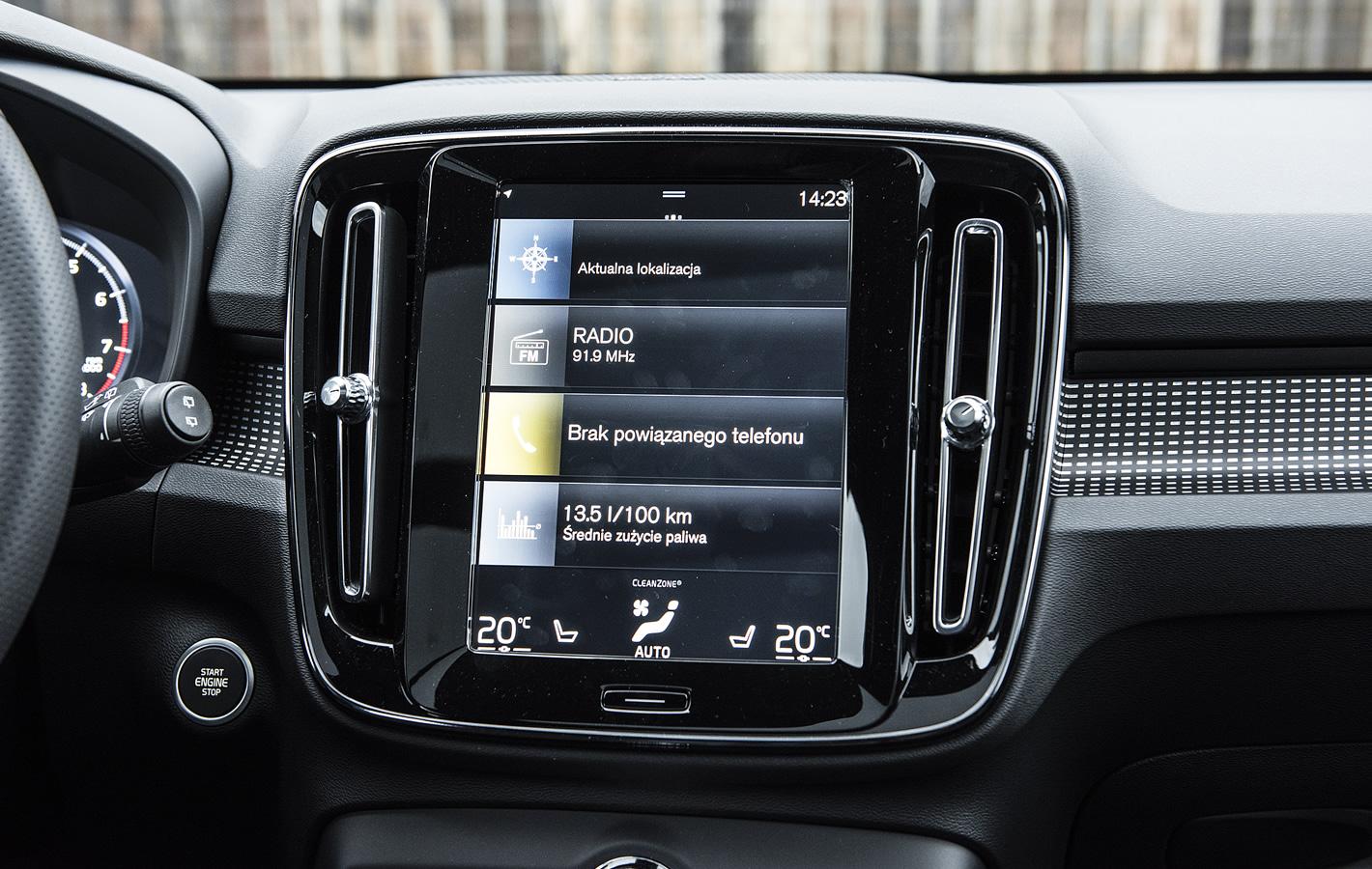 Volvo XC40 - system multimedialny