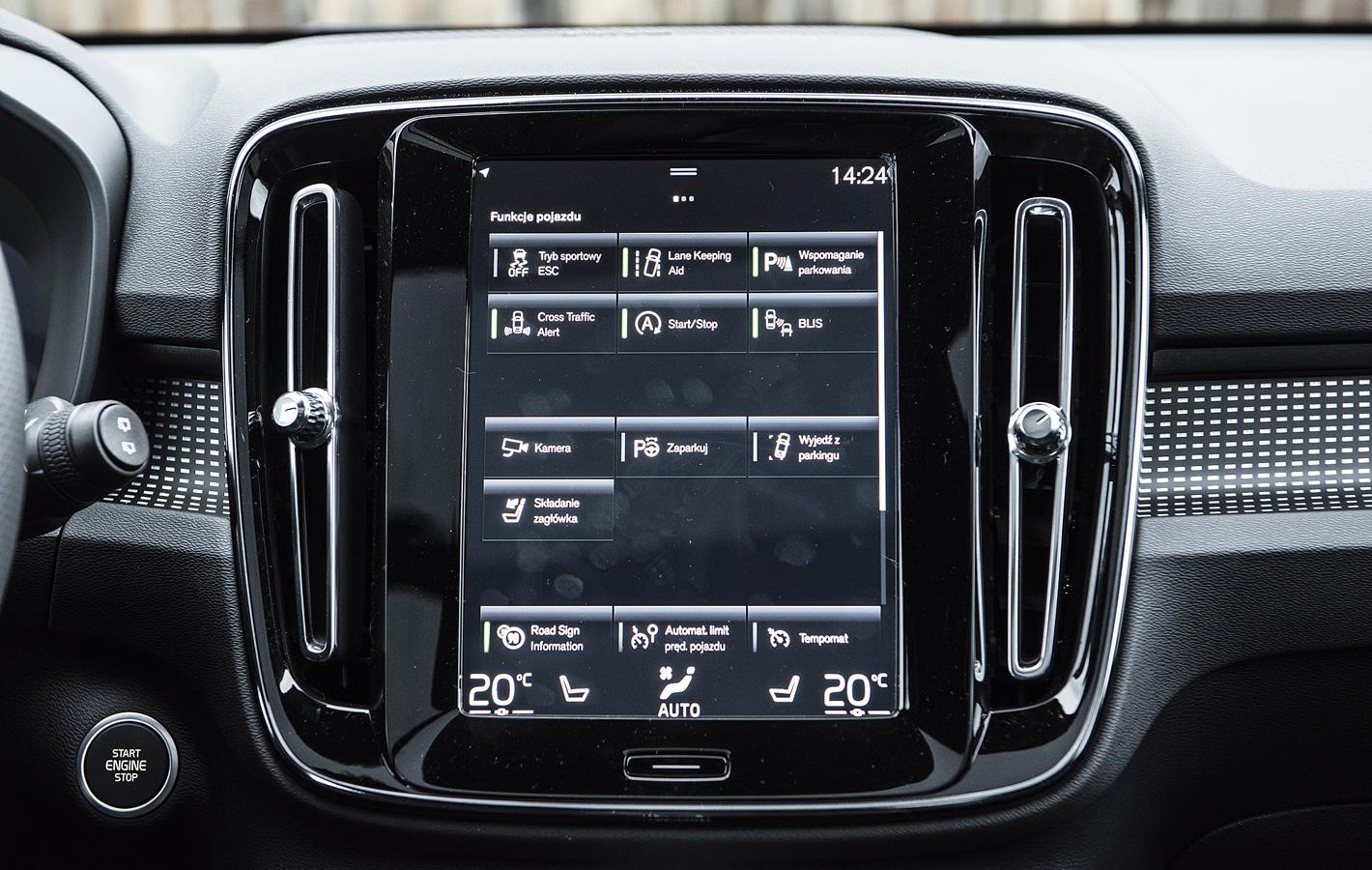 Volvo XC40 - ustawienia