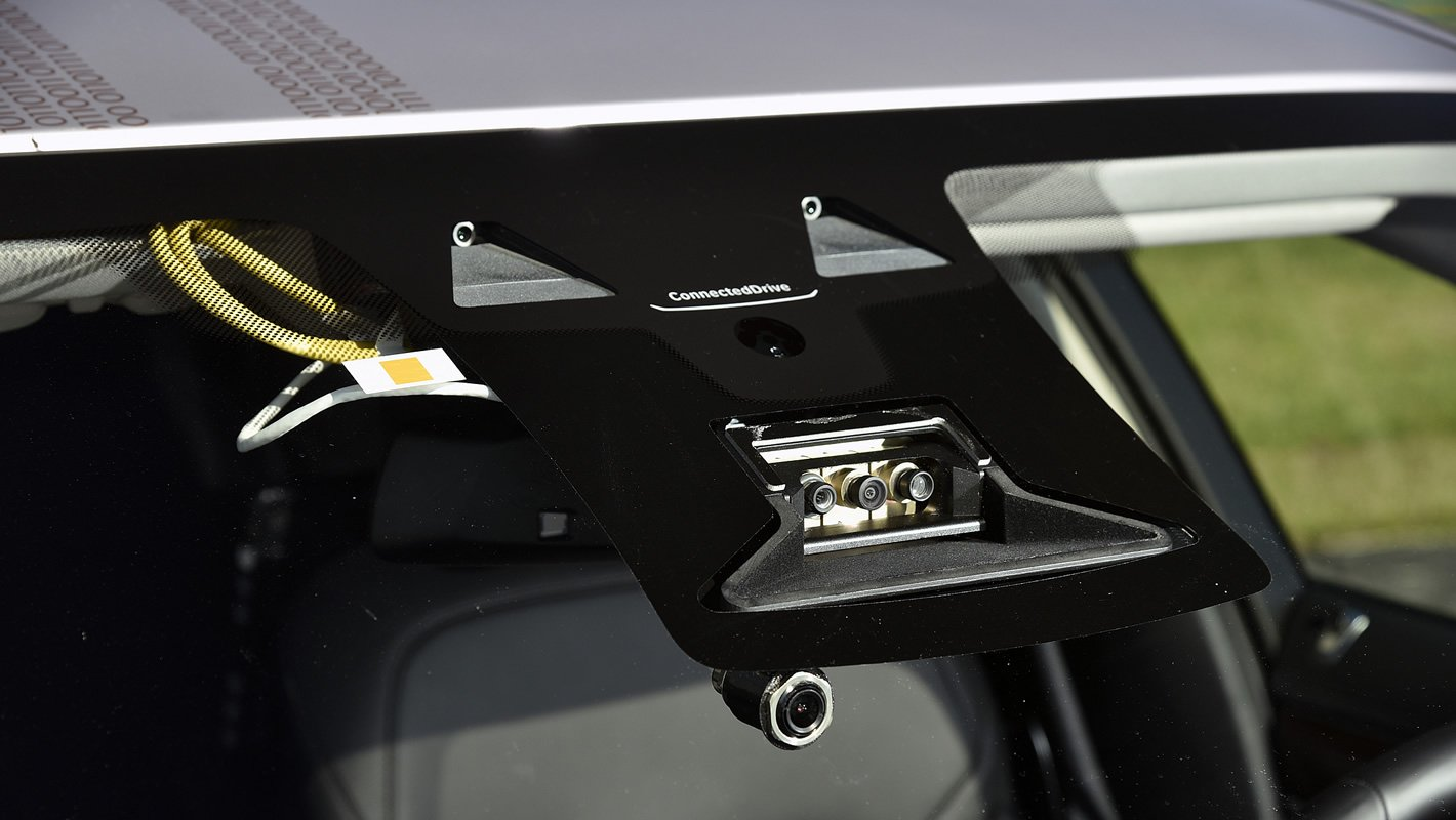 Kamery autonomicznego samochodu BMW
