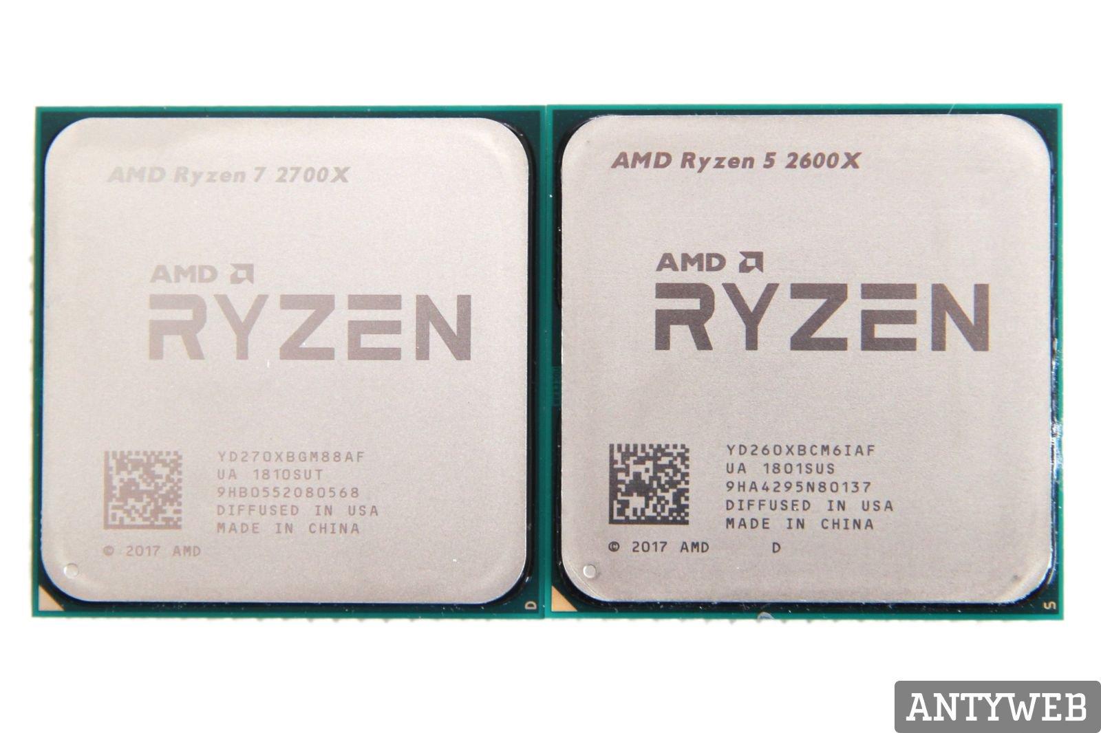 AMD Ryzen 7 2700X iRyzen 5 2600X