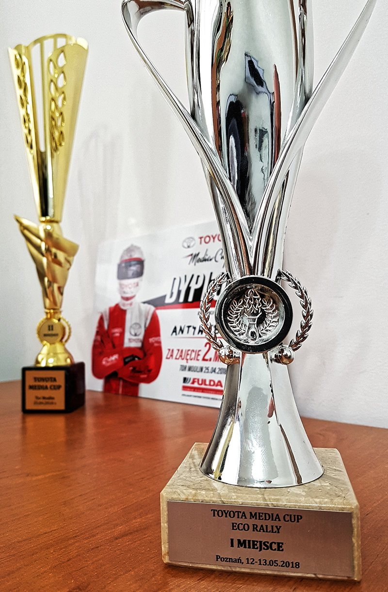 Toyota Eco Rally - puchar za 1. miejsce