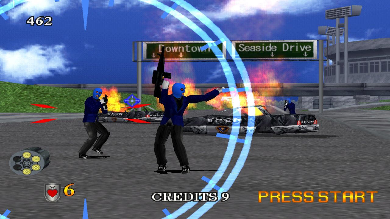 gra Virtua Cop 2 Dreamcast gameplay 2