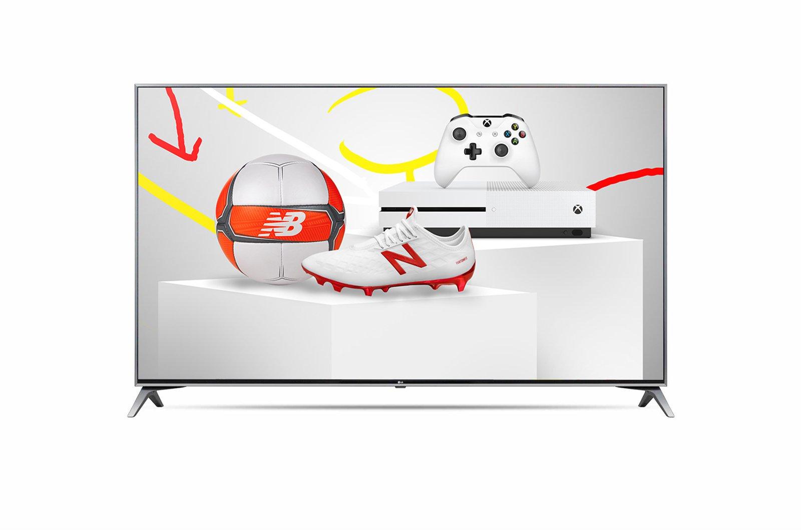 Telewizor z konsolą i rabatem na produkty sportowe