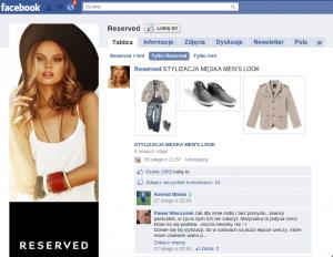 Reserved - jedyne co pozostało na Facebooku po markach LPP