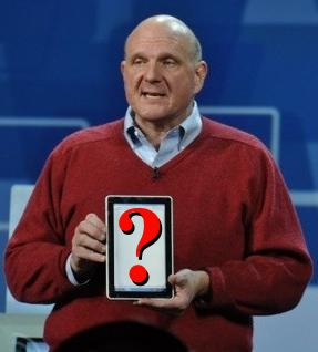 Steve Ballmer i tablet Microsoftu
