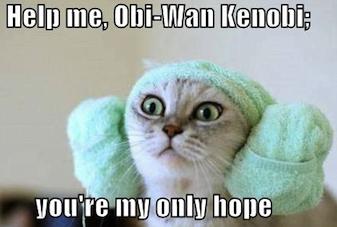 Help me, Obi-Wan Kenobi!