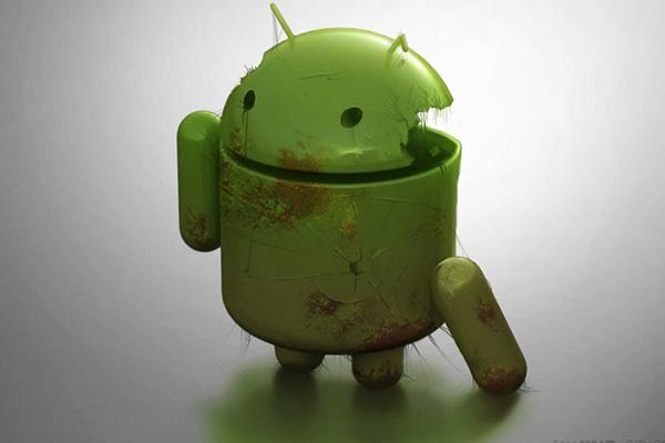 zniszczony robot android