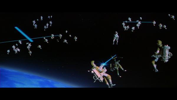 Moonraker (1979) – bitwa w kosmosie