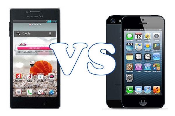 LG Optimus G oraz Apple iPhone 5