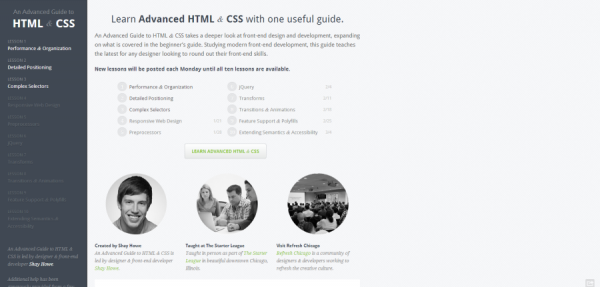 An Advanced Guide to HTML   CSS
