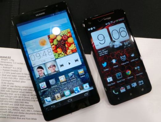 Huawei Ascend Mate i HTC Droid DNA