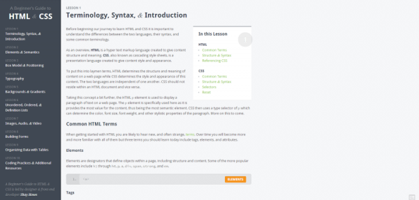 Terminology  Syntax    Introduction   A Beginner s Guide to HTML   CSS