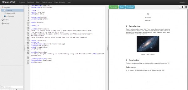 Antyweb   the LaTeX editor in the cloud