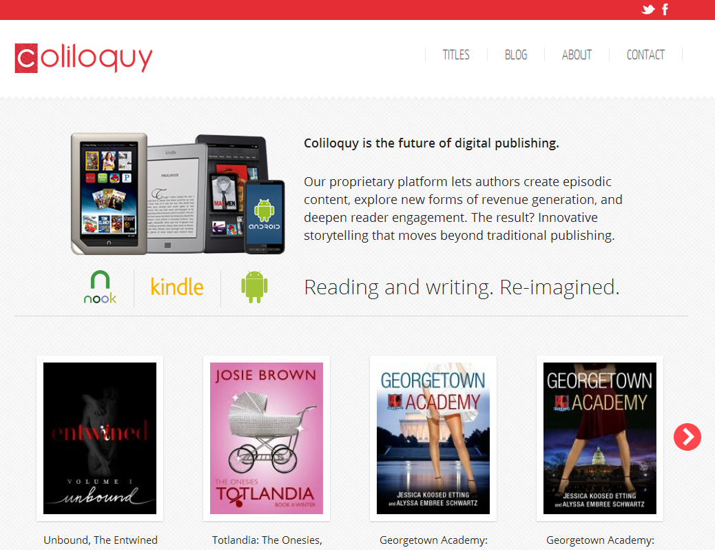 Coliloquy. Reading and writing. Re-imagined.
