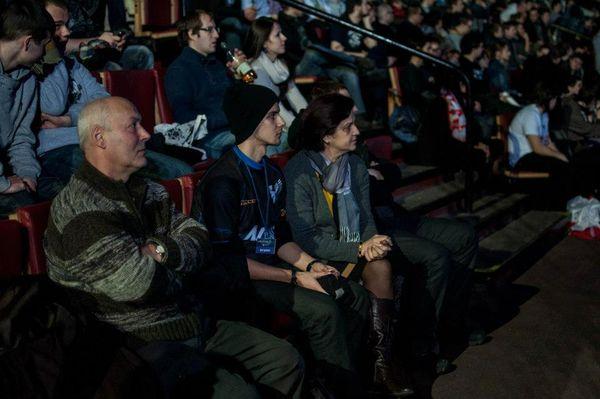 Rodzice i brat Grześka podczas Intel Extreme Masters w Katowicach.
