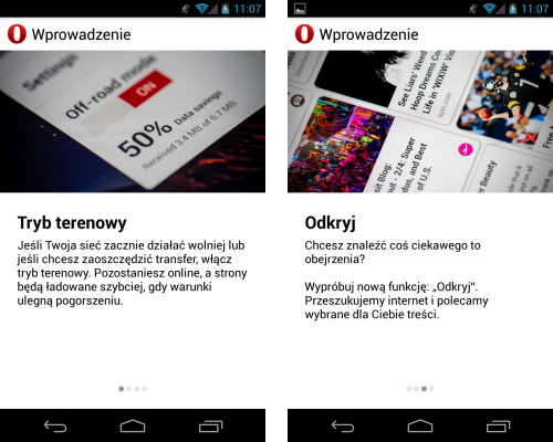 Opera WebKit na Androida (1)