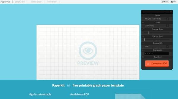 Paperkit - printable graph paper template