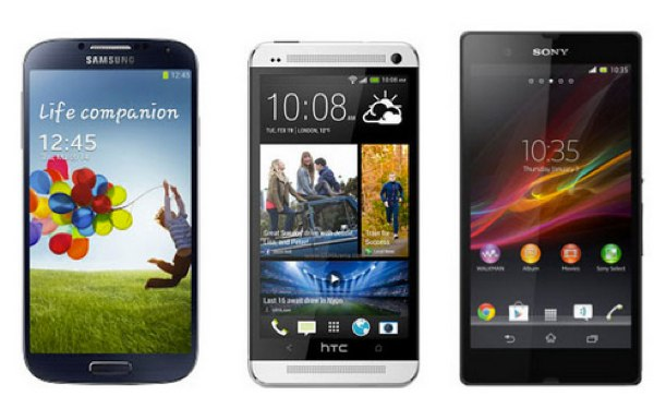 Samsung Galaxy S4 vs HTC One vs Sony Xperia Z