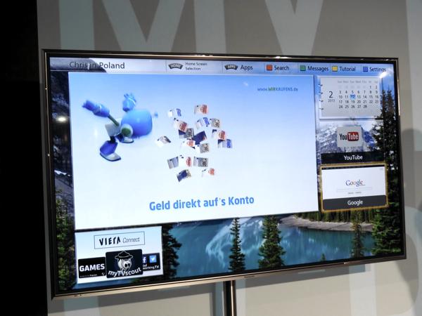 Panasonic TX-L60DT60E My Home Screen