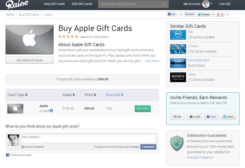 Buy Apple Gift Cards - Raise