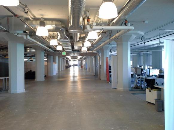 Wnętrze akceleratora Runway w San Francisco.