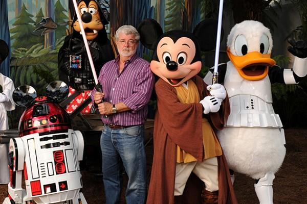 'Star Wars' creator George Lucas at Walt Disney World in Floridf