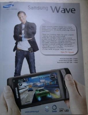 """Piotr """"Pio"""" Zajchowski, brązowy medalista World Cyber Games z 2009 roku w reklamie Samsunga Wave"""