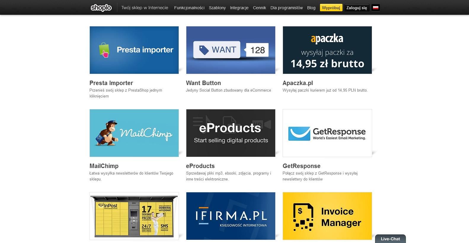 #1203 - 'App Store aplikacje do sklepu internetowego I Shoplo' - www_shoplo_com_store_apps