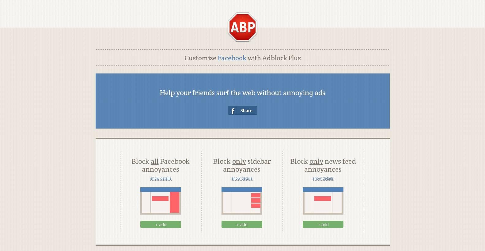 #1231 - 'Customize Facebook with Adblock Plus' - facebook_adblockplus_me_en