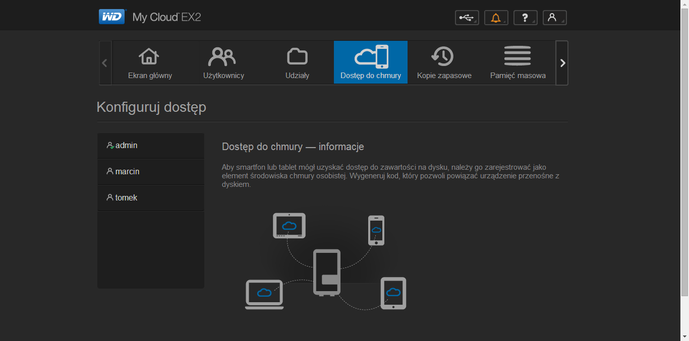 WD My Cloud EX2 panel administracyjny (5)