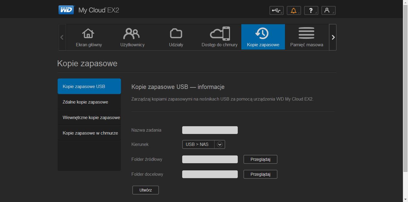 WD My Cloud EX2 panel administracyjny (6)