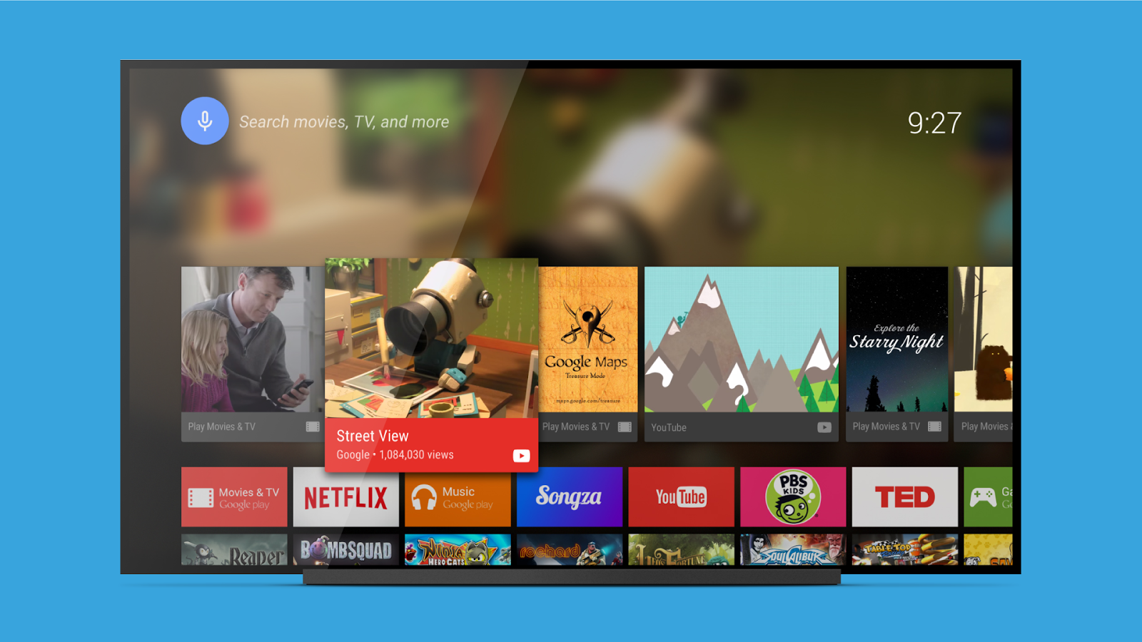 android tv launcher