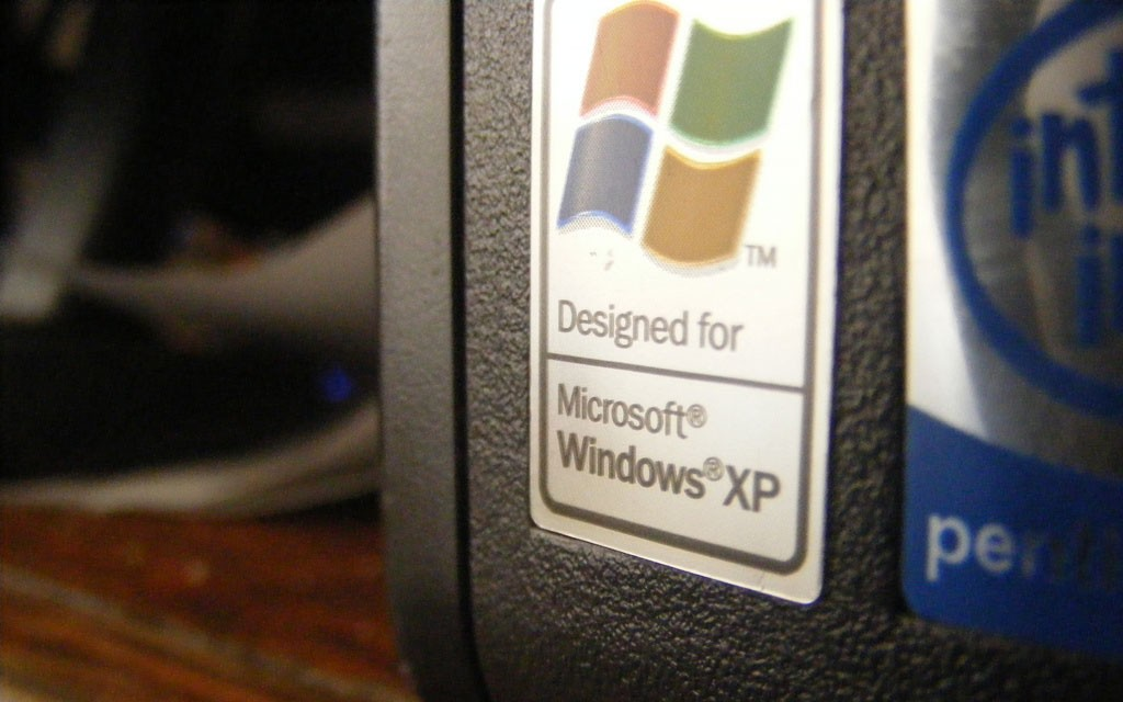 windows xp naklejka na komputer