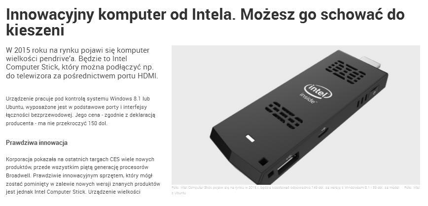 Intel pendrive