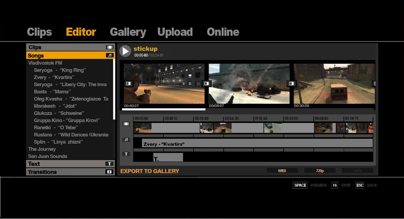 Edytor wideo w GTA IV na PC