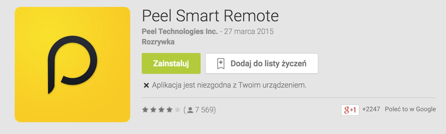 Peel TV i HTC One Max