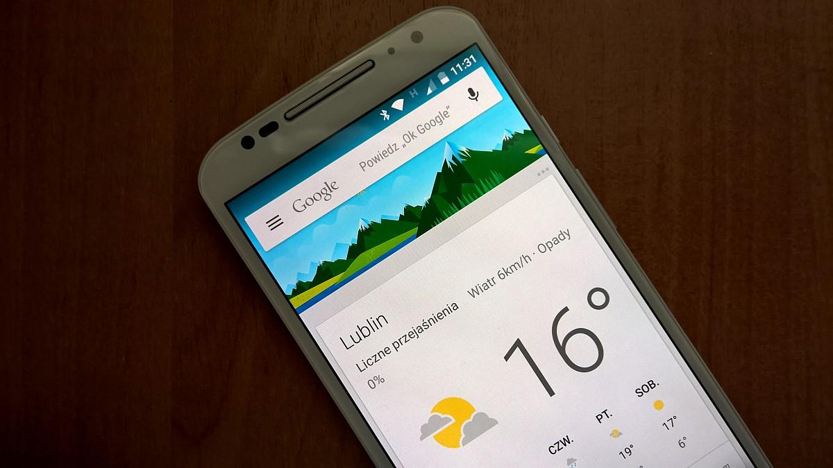 prognoza pogody na smartfonie - lublin
