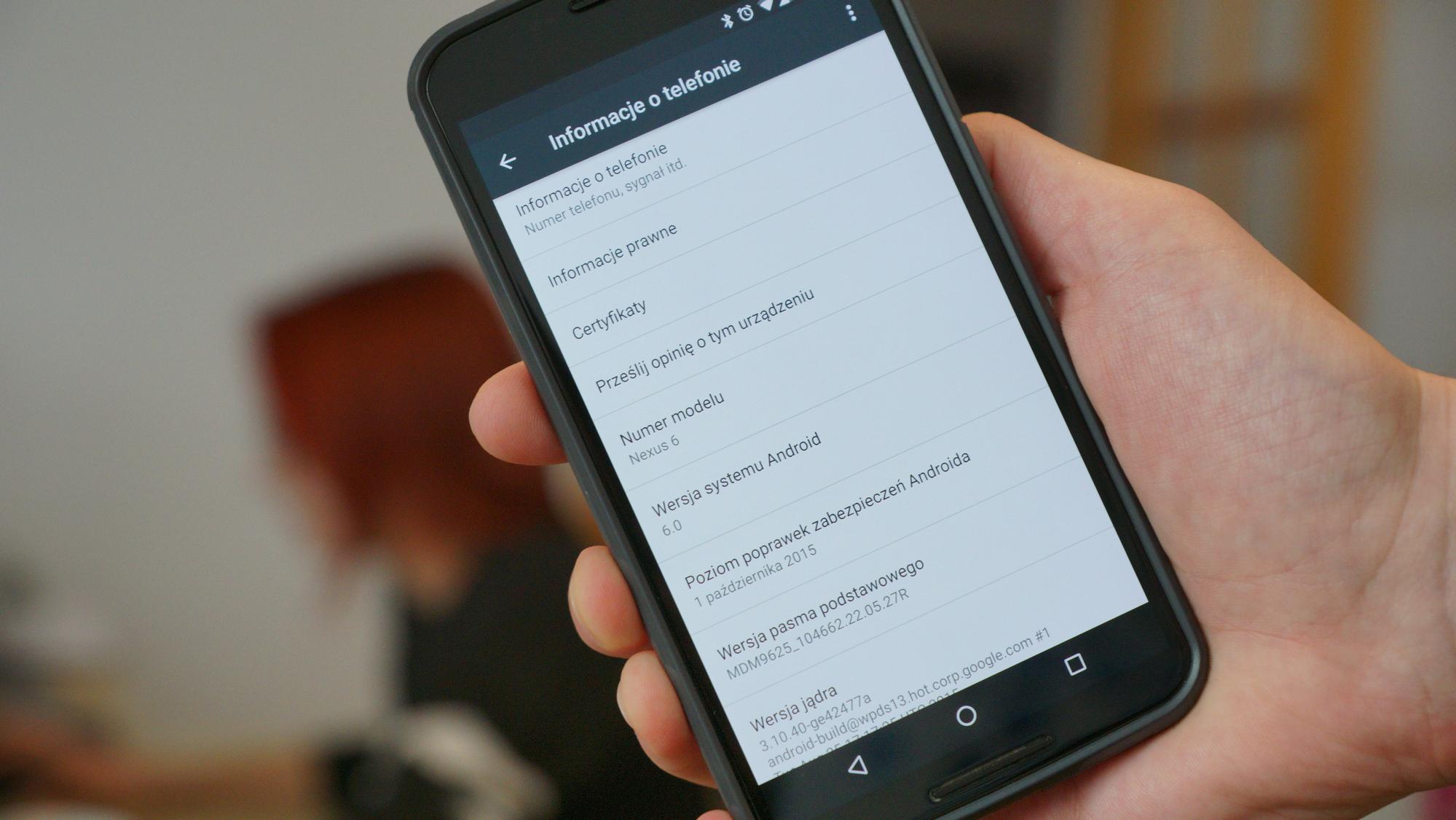 Nexus Android smartfon