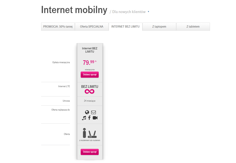 Internet Mobilny Bez Limitu