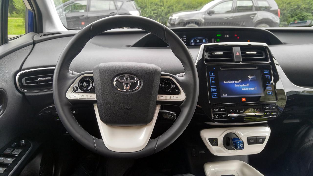 Wnętrz Toyoty Prius