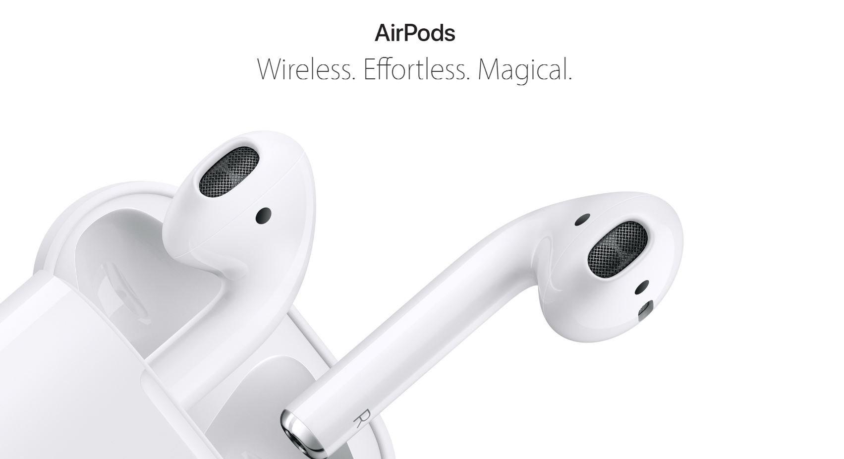 słuchawki bezprzewodowe apple airpods
