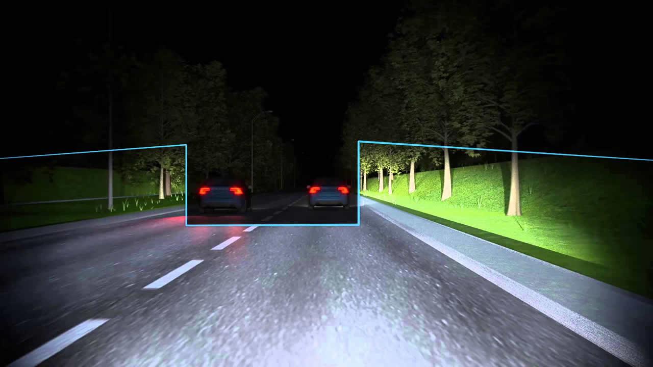 Aktywne światła drogowe Volvo