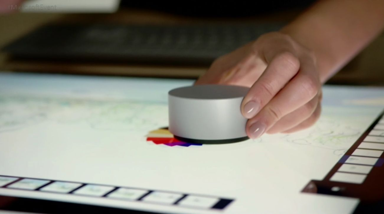 surface studio, surface dial
