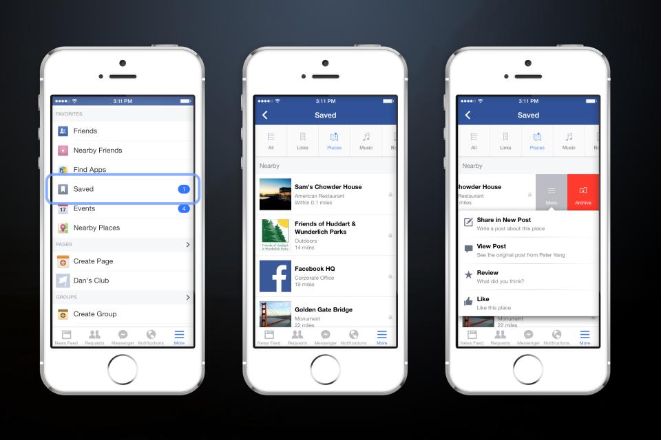 zapisane informacje facebook aplikacja iphone ios