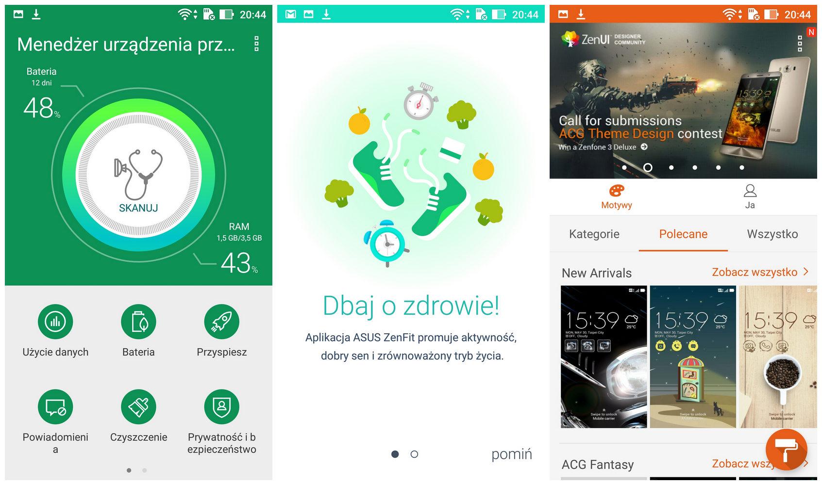 zenfone zoom S - aplikacje