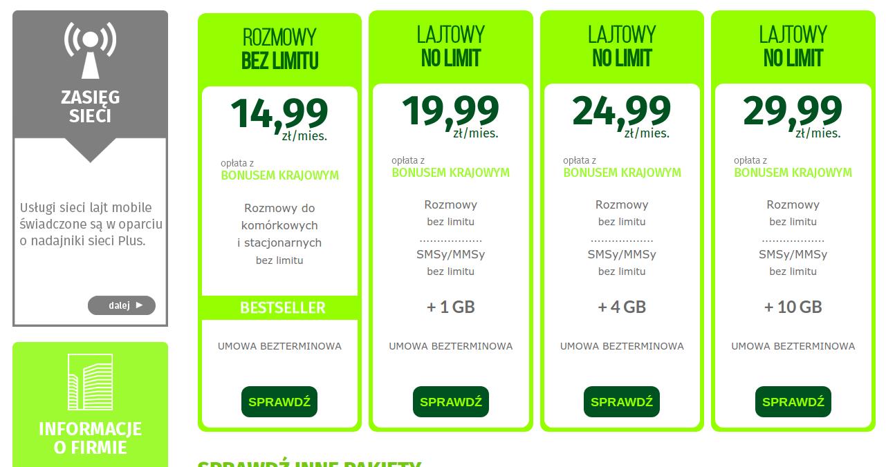 oferta lajt mobile