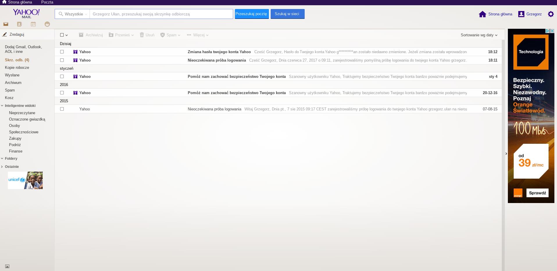 yahoo i webmail jak gmail