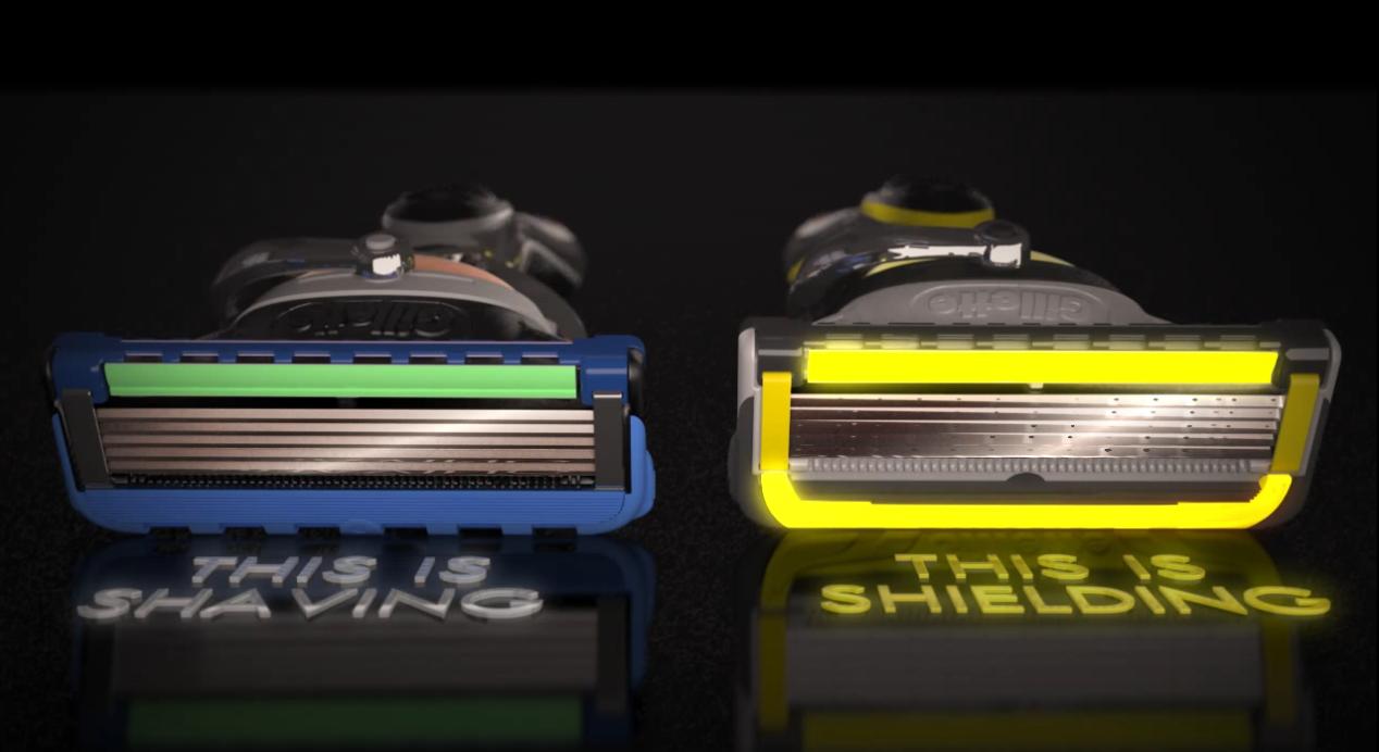 porównanie maszynek zwykłej i Gillette