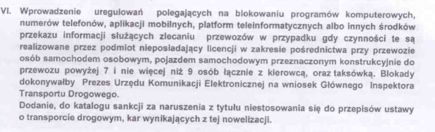 uber w Polsce a przepisy prawa